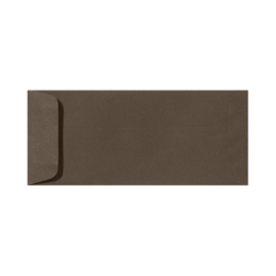 "LUX Open-End Envelopes With Peel & Press Closure, #10, 4 1/8"" x 9 1/2"", Chocolate Brown, Pack Of 50"