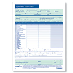 """ComplyRight Payroll/Status Change Notices, 8 1/2"""" x 11"""", Pack Of 50"""