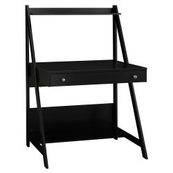 Bush Furniture Alamosa Ladder Desk, Classic Black, Standard Delivery