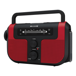 DPI WeatherX WR383R Weather And Alert Handheld Radio With AM/FM Radio, Black/Red