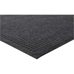 Genuine Joe 99% Recycled EcoGuard Eternity Indoor Floor Mat, 3'W x 5'L, Charcoal Gray