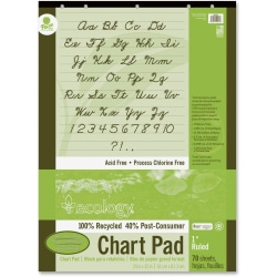 "Ecology Chart Pad, 1"" Ruled, 24"" x 32"", Pad Of 70 Sheets"