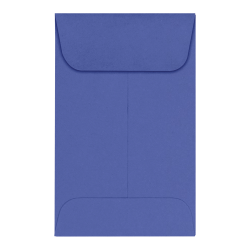 "LUX Coin Envelopes, #1, 2 1/4"" x 3 1/2"", Boardwalk Blue, Pack Of 50"