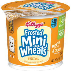 Breakfast Cereal, Frosted Mini Wheats, Single-Serve, 6/Box