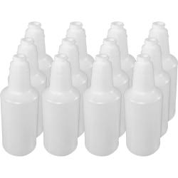 Genuine Joe Plastic Bottle With Graduations, 32 Oz, Carton Of 12