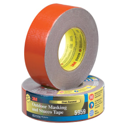 """3M™ 5959 Duct Tape, 3"""" Core, 2"""" x 135', Red, Case Of 12"""