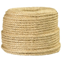 "Office Depot® Brand Sisal Rope, 865 Lb, 3/8"" x 500', Natural"