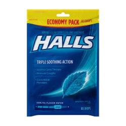 Halls Menthol Cough Drops, 80 Drops Per Bag, Pack Of 2 Bags