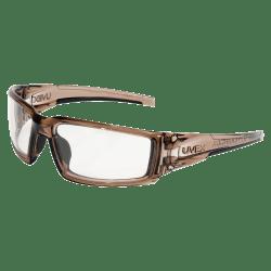 Honeywell Uvex Hypershock™ Safety Glasses, Smoke Brown Frame, Clear Lens