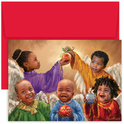 """Great Papers! Holiday Greeting Cards With Envelopes, 7 7/8"""" x 5 5/8"""", Christmas Cherubs, Pack Of 18"""