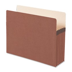 "Smead® Redrope File Pockets, Letter Size, 5 1/4"" Expansion, 30% Recycled, Redrope, Box Of 50"