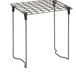 "Honey-Can-Do Folding Steel Locker Shelf, 12 3/4""H x 9 1/4""W x 11""D, Black"