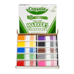 Crayola® Fine Line Markers, Assorted Classic Classpack®, Box Of 200