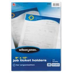"""Wilson Jones® Vinyl Job Ticket Holders, 9"""" x 12"""", Pack Of 10"""