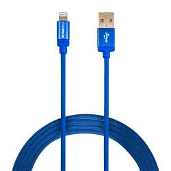 Duracell® Sync & Charge Cable, Lightning, 10', Blue, LE2285