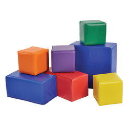 "ECR4Kids® SoftZone™ Blocks, 8""H x 15 2/5""W x 8""D, Assorted Colors, Set Of 7"