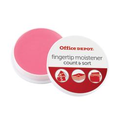 Office Depot® Brand Fingertip Moisteners, 10 Grams, Pink, Pack Of 3