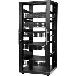"Peerless-AV 30U AV Component Rack System Compatible with most standard 19"" rack accessories - 30U Rack Height x 19"" Rack Width - Black - 1000 lb Maximum Weight Capacity"