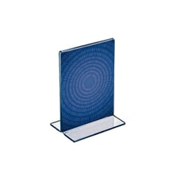 """Azar Displays Double-Foot Acrylic Sign Holders, 5"""" x 4"""", Clear, Pack Of 10"""