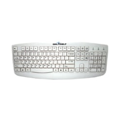Seal Shield Silver Storm Wired Keyboard, White, STWK503