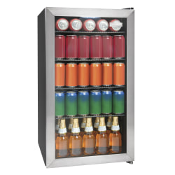 Igloo 3.5 Cu Ft 135-Can Beverage Cooler, Stainless Steel