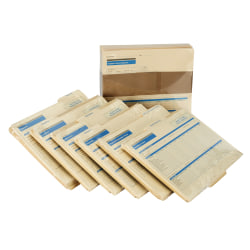 """ComplyRight Employee Record Organizer 6-Folder Sets, 11 3/4"""" x 9 1/2"""" x 2 1/2"""", Pack Of 25"""