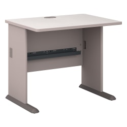 "Bush Business Furniture Office Advantage Desk 36""W, Pewter, Standard Delivery"