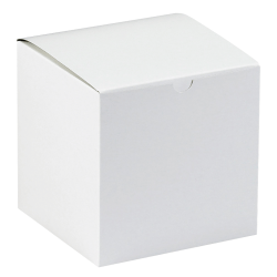 "Office Depot® Brand Gift Boxes, 8""L x 8""W x 8 1/2""H, 100% Recycled, White, Case Of 50"