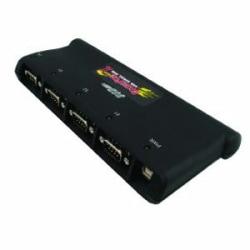Comtrol RocketPort USB Serial Hub II 4-Port RoHS - 4 x 9-pin DB-9 Male RS-232 Serial