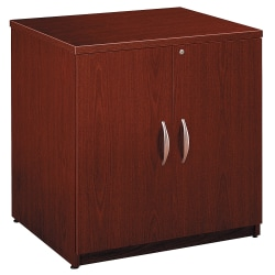 "Bush Business Furniture Components Storage Cabinet, 30""W, Mahogany, Standard Delivery"