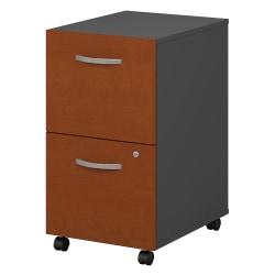 Bush Business Furniture Components 2 Drawer Mobile File Cabinet, Auburn Maple/Graphite Gray, Standard Delivery