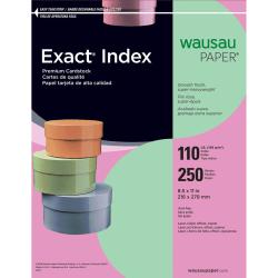 "Neenah Extra-Heavyweight Exact® Index Card Stock, 8 1/2"" x 11"", 110 Lb., Green, Pack Of 250 Sheets"