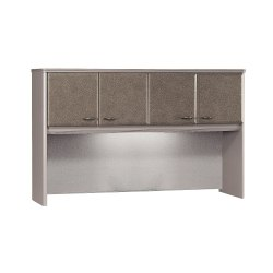 """Bush Business Furniture Office Advantage Hutch 60""""W, Pewter/Pewter, Standard Delivery"""