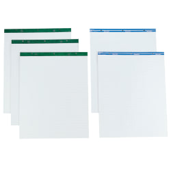 """TOPS™ Easel Pads, 27"""" x 34"""", Plain White Paper, 50 Sheets, Box Of 2"""