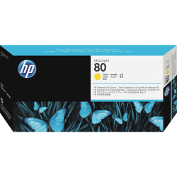 HP C4823A, Yellow Inkjet Printhead And Printhead Cleaner
