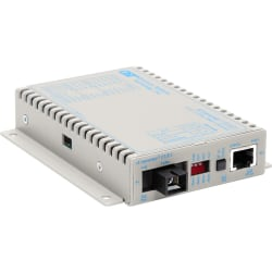 iConverter T1/E1 Single-Fiber Media Converter RJ48 SC Single-mode 20km BiDi - 1 x T1/E1; 1 x SC Single-mode Single-Fiber (1550/1310); Wall-Mount Standalone; Univ. AC Powered; Lifetime Warranty