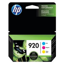 HP 920 Cyan/Magenta/Yellow Ink Cartridges (N9H55FN#140), Pack Of 3