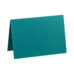 """LUX Folded Cards, A1, 3 1/2"""" x 4 7/8"""", Teal, Pack Of 500"""