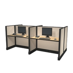 Cube Solutions Commercial-Grade Low-Height Call-Center Cubicle, Includes Integrated Power, Pod of 4