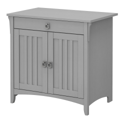"Bush Furniture Salinas 32""W Secretary Desk With Keyboard Tray And Storage Cabinet, Cape Cod Gray, Standard Delivery"