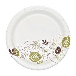 "Dixie® Ultra Soak Proof Shield Heavyweight Paper Plates, 5 7/8"", Burgundy/Green, Pack Of 1,000 Plates"