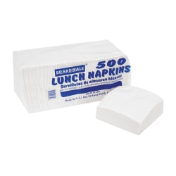 """Boardwalk 1/4-Fold 1-Ply Lunch Napkins, 11"""" x 13"""", White, Pack Of 500, Case Of 12"""
