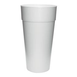 Dart Insulated Foam Cups, 24 Oz, White, 25 Cups Per Bag, Carton Of 20 Bags