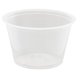 Dart® Conex® Complements Plastic Portion/Medicine Cups, 4 Oz, Clear, 125 Cups Per Bag, Carton Of 20 Bags