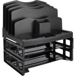 Eldon® Smart Sorter™ System With Trays, Black