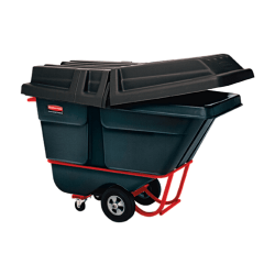 Rubbermaid Commercial 1305 Tilt Truck, Standard Duty (Rotational Molded) - 105.67 gal Capacity - Sturdy, Rust Resistant, Dent Resistant, Chip Resistant, Peel Resistant, Caster, Corrosion Resistance, Powder Coated, Pitting Resistant