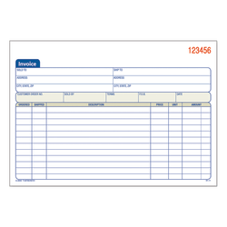 """Adams™ 3-Part Carbonless Invoice Book, 8 7/16"""" x 5 9/16"""", White/Canary/Pink, 50 Sets"""