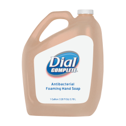 Dial Complete Antimicrobial Foaming Hand Soap, Fresh Scent, 1 Gallon, Case Of 4