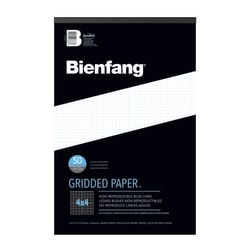 """Bienfang® Gridded Paper™ Pad, 11"""" x 17"""", 100 Pages, White/Blue"""