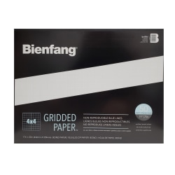 """Bienfang® Gridded Paper™ Pad, 17"""" x 22"""", 100 Pages, White/Blue"""